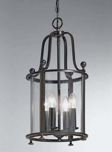 Franklite LA7001/4 Antique Bronze Pendant Light